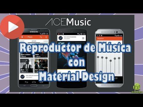 Reproductor de musica con Material Design / Motorola Moto G