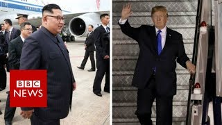 Trump-Kim summit: US and North Korea leaders arrive - BBC News