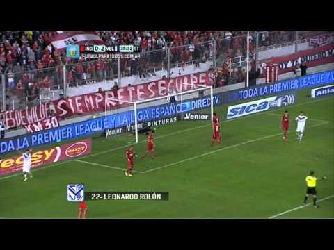 Gol de Rolón. Independiente 0 - Vélez 3. Fecha 3. Primera División 2014. FPT.