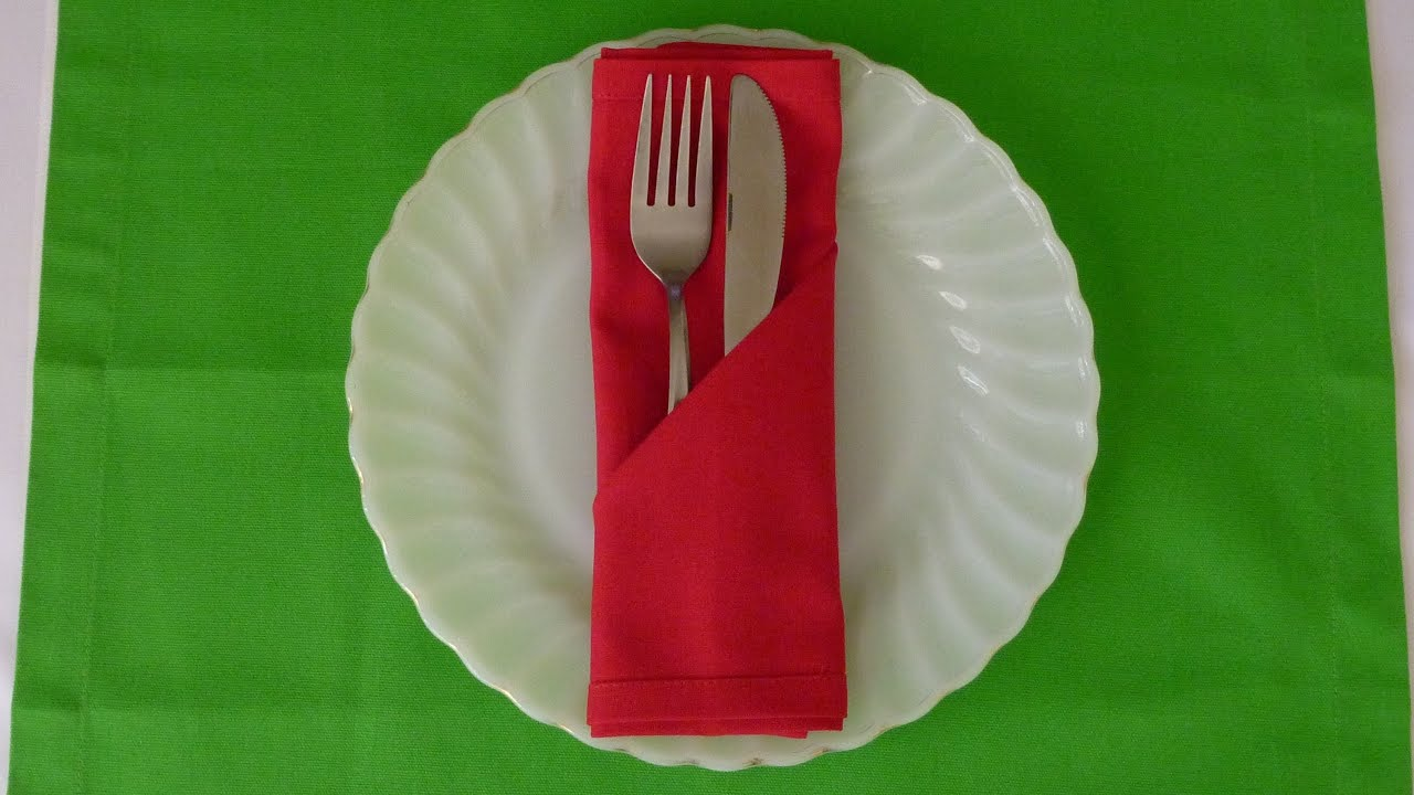 Lotus Napkin Fold Easy : Simple Pocket Napkin Folding