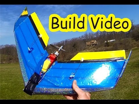 80 mile per hour $2 Foam Board Flying Wing Build Video
