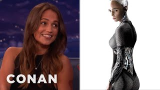 Alicia Vikander's Secret To Acting Like A Robot  - CONAN on TBS