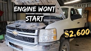ENGINE WONT START $2,600 CHEVY Silverado 2500 4X4 PT.2