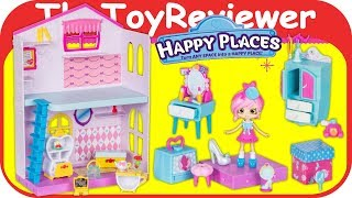 Shopkins Disney Happy Places Townhouse Playset Princess Belle Unboxing Toy Review by TheToyReviewer