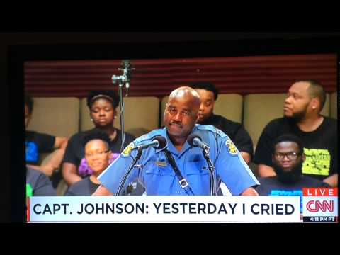 Yet praying for #Ferguson & Captain Ron Johnson, his speech brought me to tears... Lord send JUS