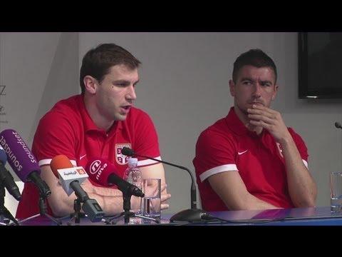 Croatia vs Serbia - 2014 World Cup Qualifier - Serbia prepare for Croatia clash