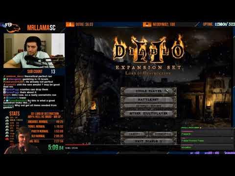 Diablo 2 сегментный ран. Теоретически самый быстрый возможный спидран.