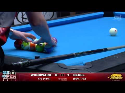 2016 US Open 8-Ball: Skyler Woodward vs Corey Deuel