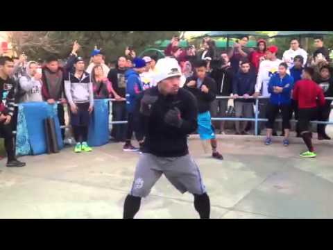 MANNY PACQUIAO SHOWS FOOTWORK TRAINING for Manny pacquiao vs floyd mayweather