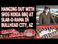 Hanging Out with Shig Ninja BBQ at Slab-O-Rama in Bullhead City, AZ
