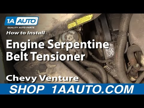 How To Install Replace Engine Serpentine Belt Tensioner Chevy Venture Montana 3.4L 97-98 1AAuto.com