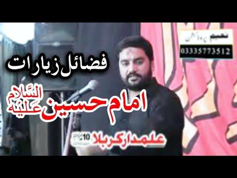 Zakir Waseem Abbas Baloch 10 Safar 2020 Mandi Bahudin Fazail Zyarat Imam Hussain asws