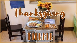 The Thanksgiving and Thankfulness Theme for Toddlers and Preschoolers