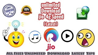 Jio Unlimited 4G Speed Download Latest