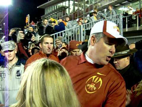 Coach Paul Rhoads Congratulates team 11/18/2011