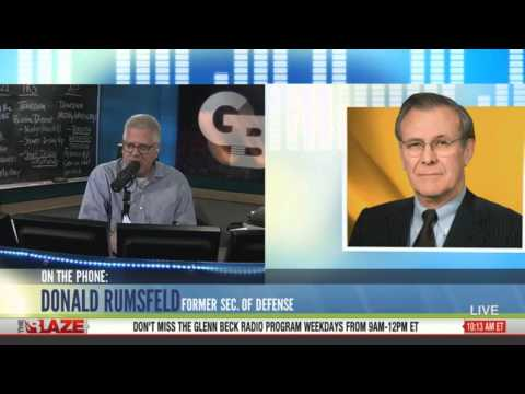 Donald Rumsfeld on air w/ Glenn Beck & his book