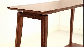 Instruction: Greenington Antares Exotic Bamboo Console Table