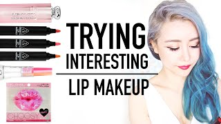 7 Interesting Korean Lip Makeup Products TRY ON ♥ Color Change & Tattoo ♥ Collection Haul ♥ Wengie