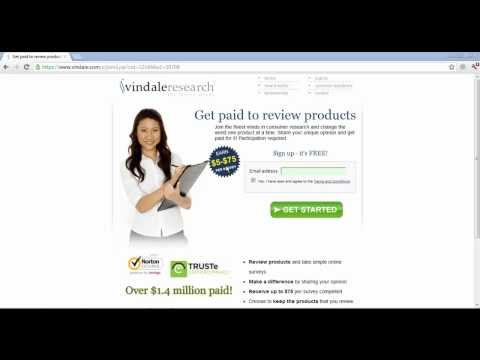 Vindale Research   Paid Online Surveys