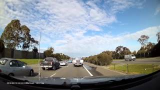Crash on the Monash Freeway