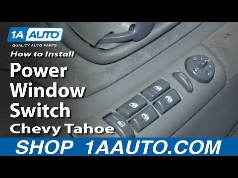 How To Install Replace Master Power Window Switch 1995-99 Chevy Tahoe Suburban