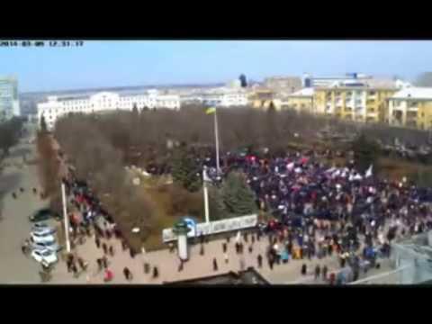 Разгон майданутых в Луганске