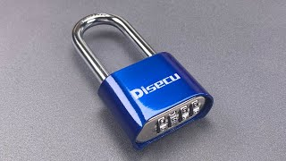 [996] Open in 2 Seconds: Disecu Combination Padlock