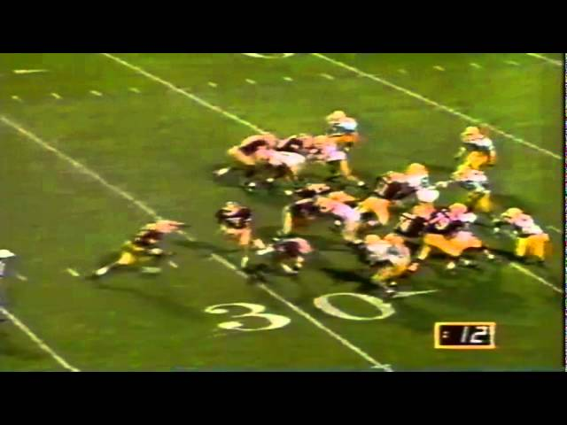 Oregon DT Jerry Kent tackles ASU RB Mario Bates for a loss 11-09-1991