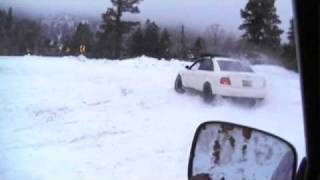 1998 audi a4 mountain snow driving