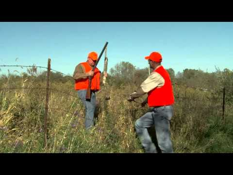 Firearm Safety - How to Safely Cross a Fence with a Firearm - Gun Safety and Hunter Safety