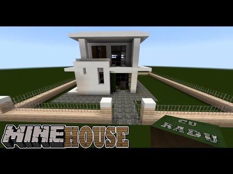 MINEhouse Casa moderna mica Partea 1 HD tutorial