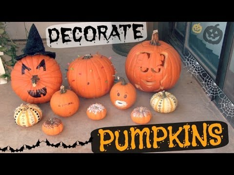 Decorate PUMPKINS! How To - Halloween DIY - No Carve & More!