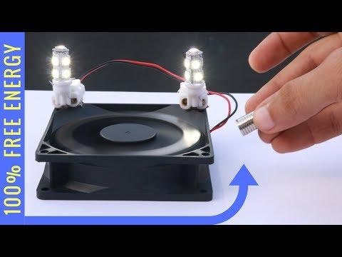 FREE ENERGY Light Bulb Experiment - Magnet Power Generator thumbnail