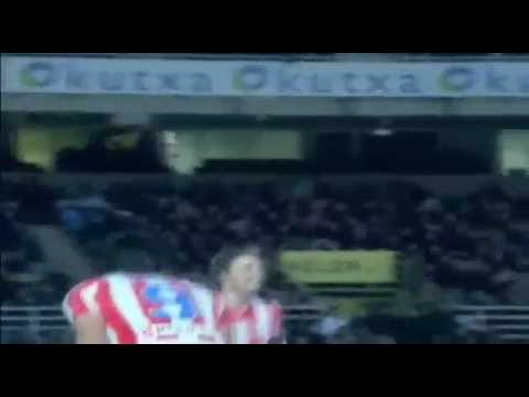 Real Sociedad 0 vs 4 Atletico Madrid FALCAO Hat-Trick 21 de Enero 2012