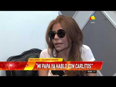 La confesión de Zulemita Menem: Creo que Carlitos sigue consumiendo