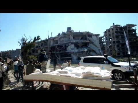 Syria: Aid Distribution in Homs