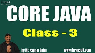 Learn Core Java Programming Tutorial Online Training by Nagoor Babu Sir On 15-08-2018