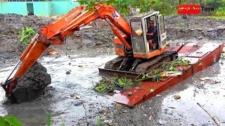 Excavator Busy Working On The River | The Best Songs for Kids