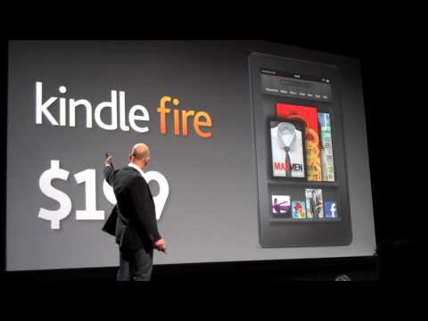 Amazon CEO Jeff Bezos Announces Price of Kindle Fire Color Tablet: $199