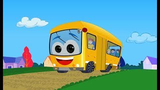 The Wheels On The Bus   English Nursery Rhymes For Kids & Children's   Baby Songs
