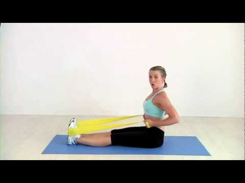 Seated Row - 15-Minute Resistance Band Workout Image 1