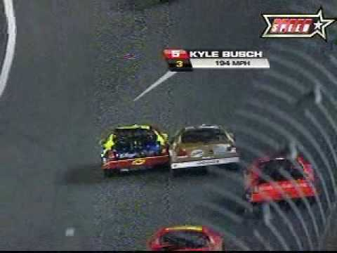 2007 Nextel All-Star - Kurt Busch and Kyle Busch wreck