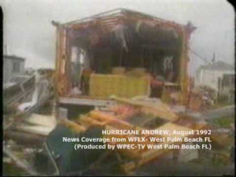 Hurricane Andrew West Palm Beach local coverage part 2