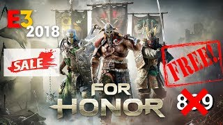 FREE Game Alert- How To Get Free For Honor From (UPLAY)IN HIND/80%Discount on Other Game E3 2018