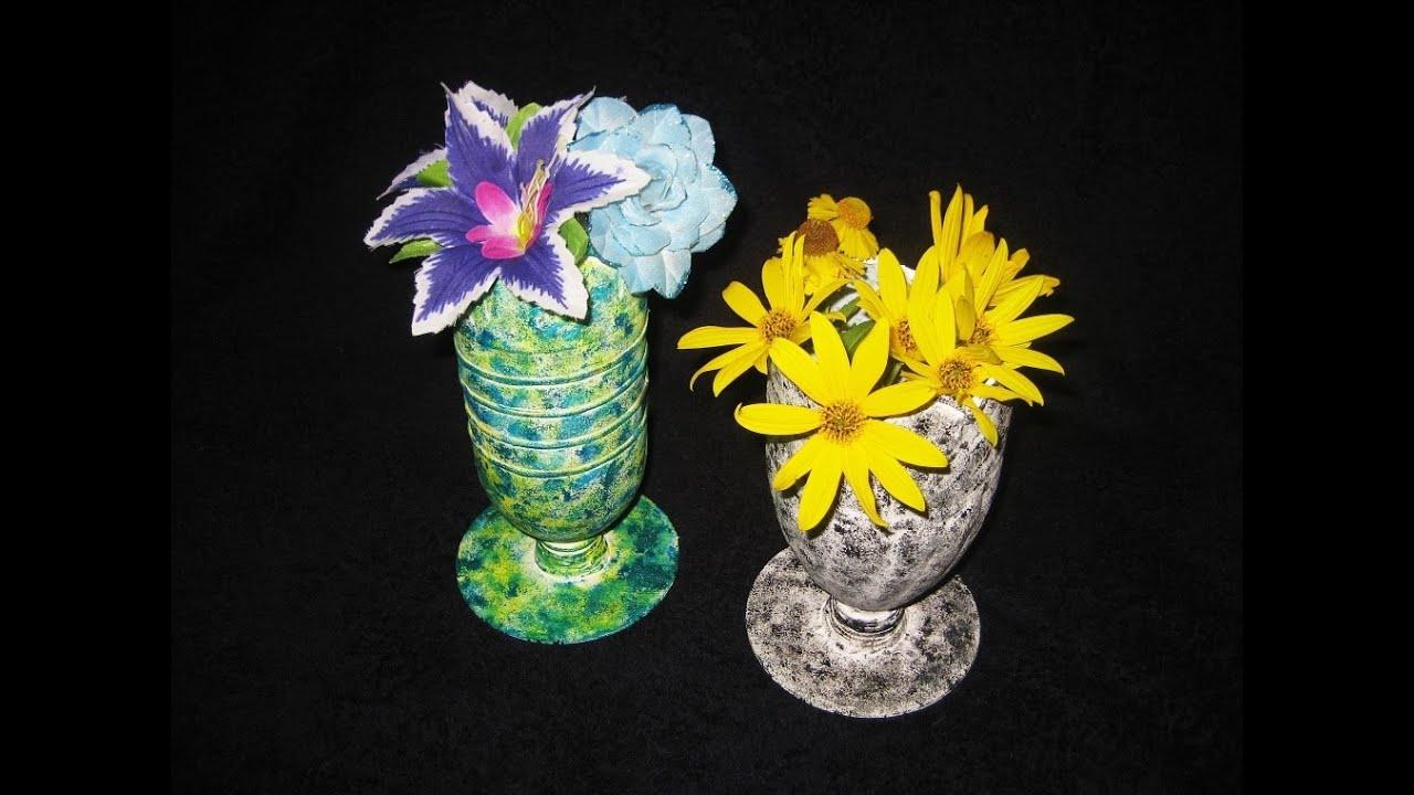 Вазочка для цветов мастер класс своими руками