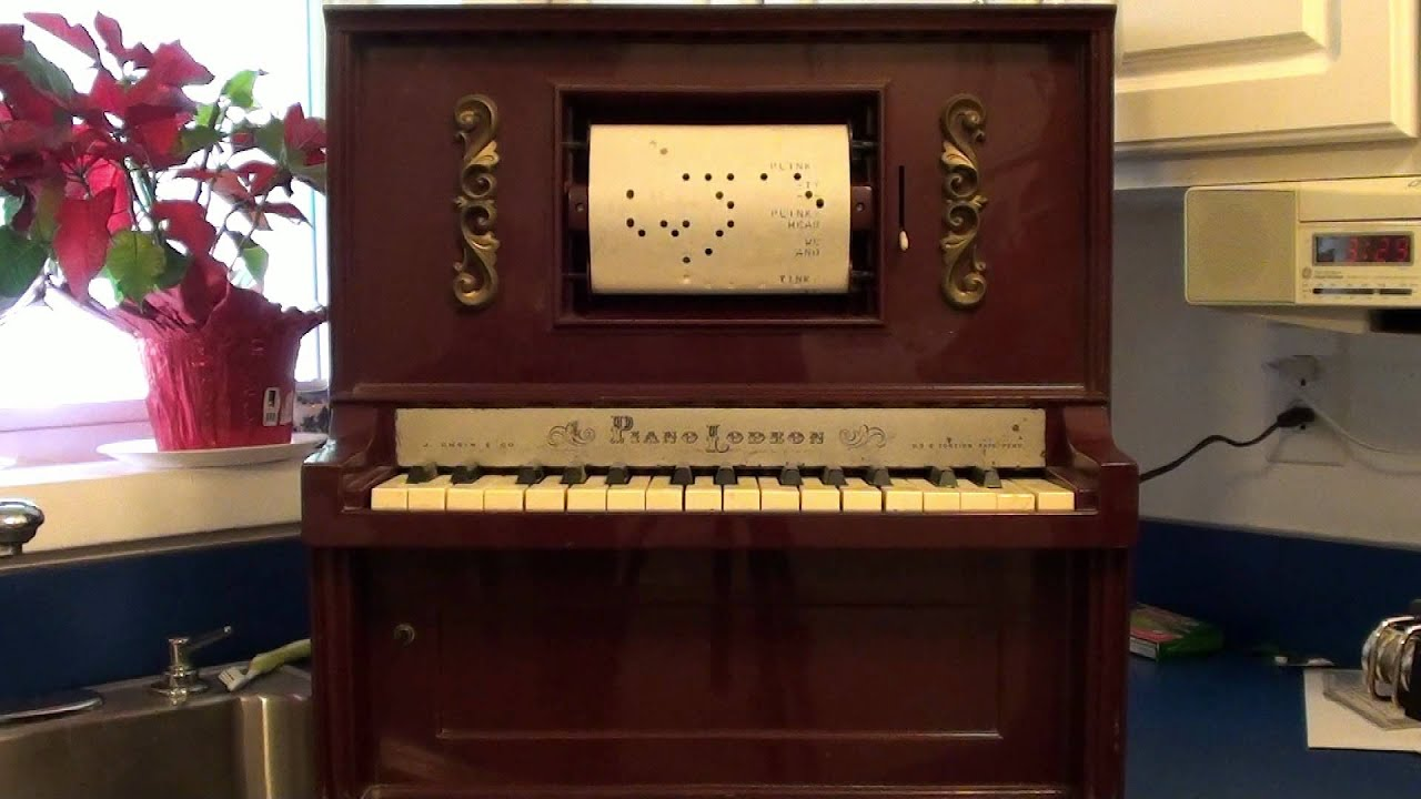 1960s Piano Players Toy Player Piano Demo
