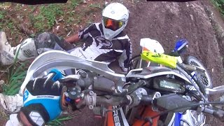 Riverhead Trailride 2015, YZ450 vs Freeride 250 in the forest? ...not a chance!