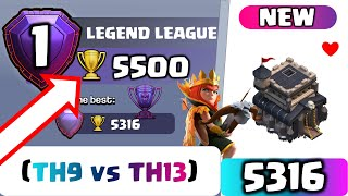 TH9 LEGEND | CHASE 5500 Trophy | Top 3 Higher League Attacks | Clash of Clans Strategy