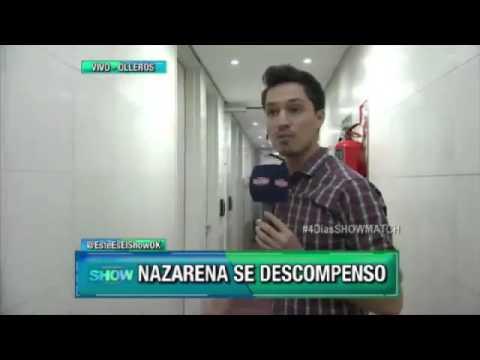 Nazarena Vélez se descompensó en un ensayo para el Bailando