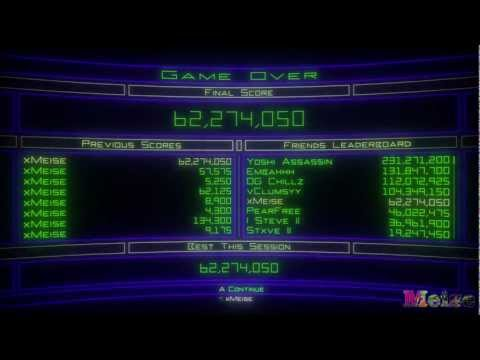 Geometry Wars - High Score 13th Jan 2012 - 62 million